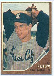 '62 Ed Rakow - Topps #342 - KC Athletics