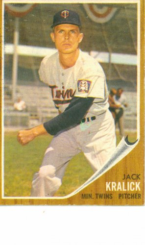 '62 Jack Kralick - Topps #346 - Twins