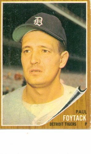 '62 Paul Foytack - Topps #349 - Tigers