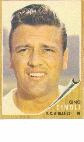 '62 Gino Cimoli - Topps #402 - KC Athletics