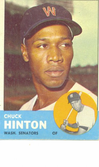 '63 Chuck Hinton - Topps #330 - Senators