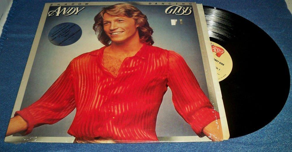 "ANDY GIBB ""Shadow Dancing"" Record w/ shrink wrap Vinyl LP VG+/VG+"