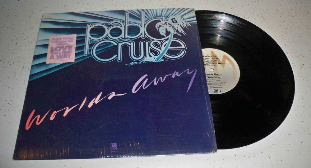 "PABLO CRUISE ""Worlds Away"" LP 1978 A&M SP-4697 LP Vinyl Record in Shrink EX/VG"