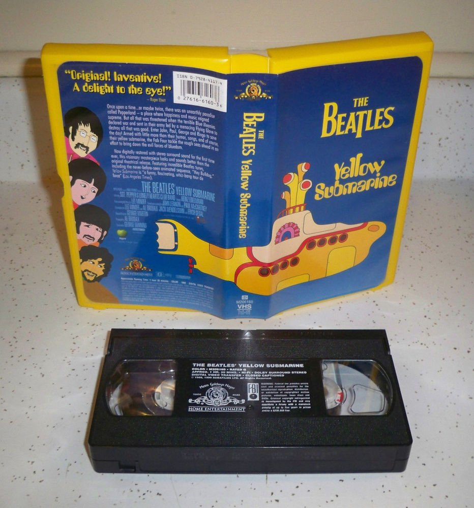 The Beatles Yellow Submarine Movie VHS 1968 Clamshell Case Lennon McCartney