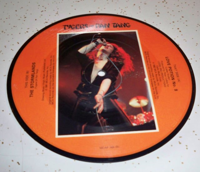 "TYGERS OF PAN TANG UK 7"" picture disc 45 Love Potion #9,  hard rock"