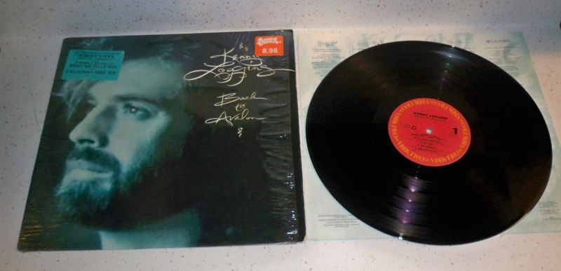 KENNY LOGGINS BACK TO AVALON 1988 LP VINYL RECORD EX/EX