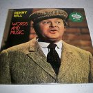 BENNY HILL Words And Music LP Capitol 12049 US 1980 SEALED Benny Hill Comedy LP