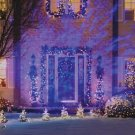 GEMMY Christmas Icy Blue Kaleidoscope LED Light Show Projector New See Demo