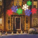 GEMMY Christmas MULTI-COLOR Snow Flake LED Light Show Projector New See Demo