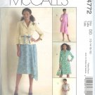 M4772 McCalls Pattern Jacket , Dress, and Skirt Misses/Miss Petite  Size DD 12-14-16-18