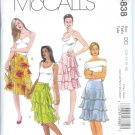 M4838 McCalls Pattern Lined Skirts in Three Lengths Misses Size DD 12-14-16-18