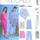M4847 McCalls EASY ENDLESS OPTIONS Poncho,Top,Tunic,Shorts & Capri Pants Womens Size18W - 24W