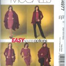 M4977 McCalls EASY ENDLESS OPTIONS Cape,Jacket,top,Skirt and Pants Misses/Miss Petite  Size XS, S, M
