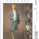 M4978 McCalls NON-STOP WARDROBE Lined Jacket in 2 Lengths,Tops,Skirt & Pants Misses Size 16-18-20-22