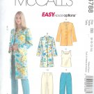 M4788 EASY ENDLESS OPTIONS Jacket, Top, and Pants in 2 Lengths Misses PETITE Size FF  16-18-20-22