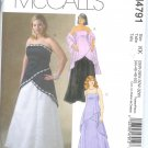 M4791 McCalls Pattern Evening Gown Lined Tops, Skirt, and Stole Womens Size RR 18W - 24W