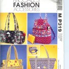 MP319 McCalls Pattern FASHION ACCESSORIES Misses Handbags
