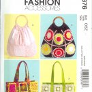 MP376 McCalls Pattern FASHION ACCESSORIES Handbags