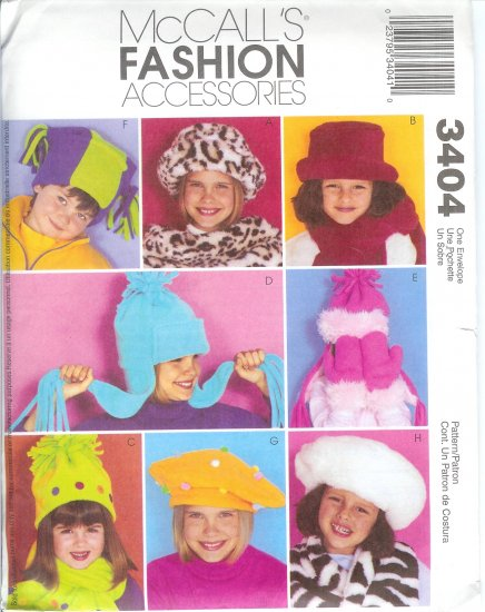M3404 McCall Pattern FASHION ACCESSORIES