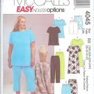M4045 McCalls ENDLESS OPTIONS Top, Dress, Shorts & Pants 2 Lengths Womens/Womens Petite Size 18W-24W