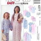 M4277 McCall Pattern EASY ENDLESS OPTIONS Sleepwear Child/Girls/Boys Size Y  XS, S