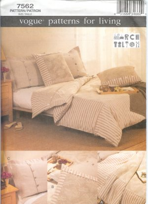V7562 Vogue Pattern for Living Bedroom Set