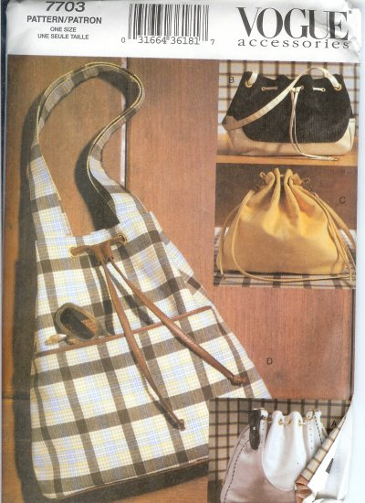 *** SOLD ***V7703 Vogue Pattern Accessories Handbags