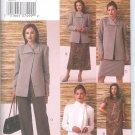 V7836 Vogue FIVE EASY PIECES Jacket, Top, Dress, Skirt, Pants, Scarf Misses/Miss Petite Size 14-18
