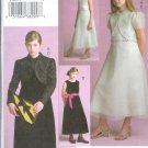 V7895 Vogue Pattern VOGUE GIRL Jacket, Dress Girl Size 7,8,10
