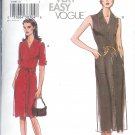 V7897 Vogue Pattern VERY EASY Dress, Sash Misses/Miss Petite Size 20, 22,24