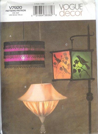 V7920 Vogue Pattern Decor Lamps