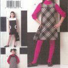 V7927 Vogue Pattern VOGUE GIRL Dress, Jumper, Handbag Girls Size 7, 8, 10