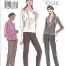 V7938 Vogue Pattern VERY EASY Pants Misses Size 6, 8, 10, 12