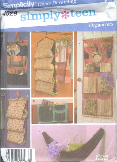 S4529 Simplicity Pattern SIMPLY TEEN Organizers