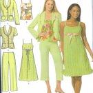 S4238 Simplicity EASY CHIC Dress, Top, Cropped Pants, Lined Jacket Misses/Miss Petite Size  8 - 16