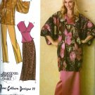 S4291 Simplicity Pattern Lined KIMONO in Two Lengths, Top, Pull-On Pants, Skirt Size  XXS, XS, S, M