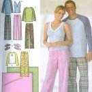 S4380 Simplicity Pants, Slippers in 3 Sizes, Knit Top, Blanket UNISEX Size A XS-XL/ 8-18