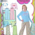 S4974 Simplicity LIZZIE McGUIRE Pants, Knit Top, Blanket, Pillow Cover Girl/Girl Plus Size 8-16