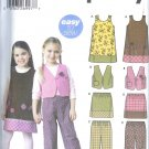 S5489 Simplicity Pattern EASY Jumper, Vest, Pants, Skirt Girls Size A 3,4,6,8
