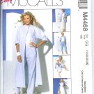 M4468 McCalls EASY Duster or Shirt,Top,Bias Skirt & Pants in 2 Lengths Misses/Miss Petite Size12-18
