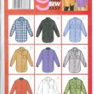 B3198 Butterick Pattern 9 SEW EASY Shirt Misses Size 8, 10, 12