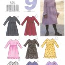 B3268 Butterick Pattern 9 EASY SEW Dress Child/Girls Size 6, 7, 8