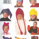 B3317 Butterick Pattern Hat Scarf Child/Boys/Girls Size XS, S, M