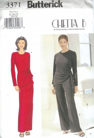B3371 Butterick Pattern CHETTA  B Top, Skirt, Pants Misses Size  8, 10, 12