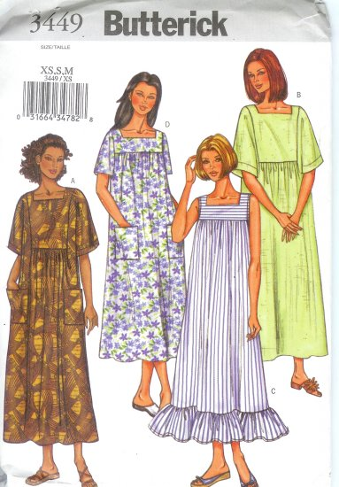 B3449 Butterick Pattern EASY Dress Misses/Miss Petite Size XS, S, M