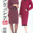 B3689 Butterick Pattern VERY EASY SEE & SEW Misses Size B 14, 16, 18