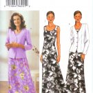 B3758 Butterick Pattern EASY Jacket, Dress Misses/Miss Petite Size 8, 10, 12