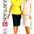 B3817 Butterick Pattern EASY SEE & SEW Top, Skirt Misses/Miss Petite Size B 14, 16, 18