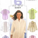 B3895 Butterick Pattern 6 SEW EASY Shirt Misses/Miss Petite size 12, 14, 16