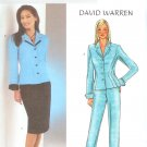 B3918 Butterick Pattern DAVID WARREN Jacket, Skirt, Pants Misses/Miss Petite Size 6, 8, 10